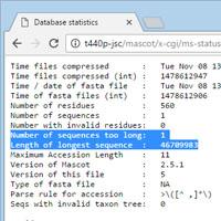 Statistics file
